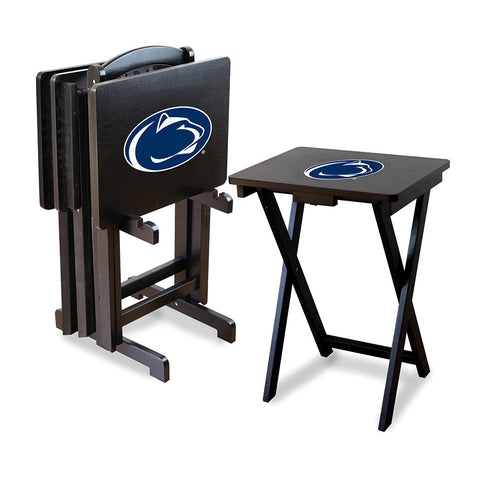 Penn State Nittany Lions NCAA TV Tray Set with Rack
