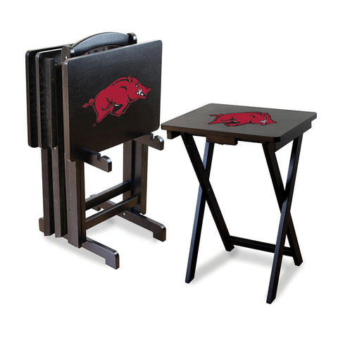 Arkansas Razorbacks NCAA TV Tray Set with Rack