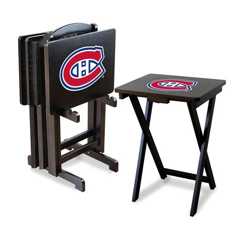 Montreal Canadiens NHL TV Tray Set with Rack