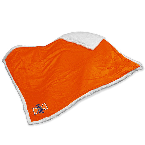Illinois Fighting Illini NCAA Soft Plush Sherpa Throw Blanket 50in x 60in