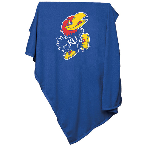Kansas Jayhawks NCAA Sweatshirt Blanket Throw