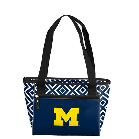 Michigan Wolverines NCAA 16 Can Cooler Tote
