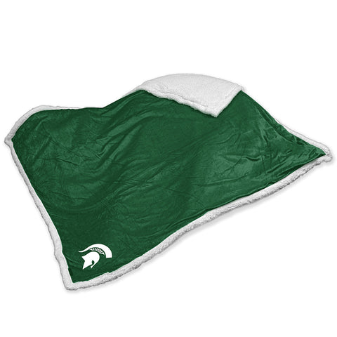 Michigan State Spartans NCAA Soft Plush Sherpa Throw Blanket 50in x 60in