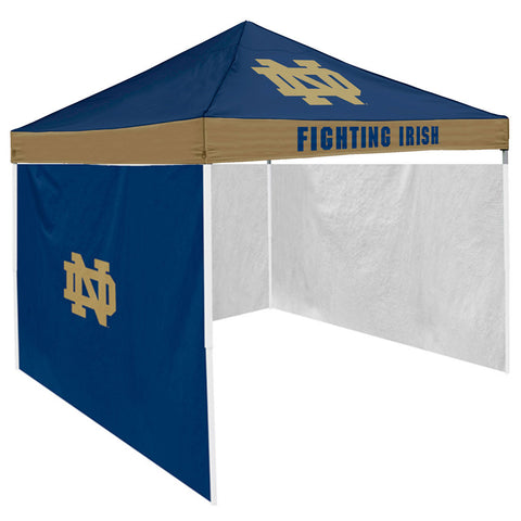 Notre Dame Fighting Irish NCAA 9 x Economy 2 Logo Pop Up Canopy Tailgate Tent With Side Wall