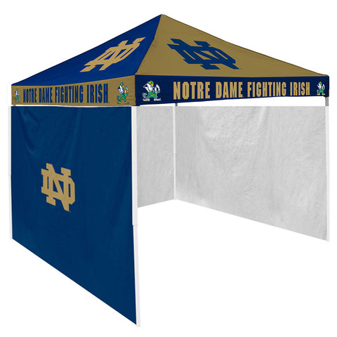 Notre Dame Fighting Irish NCAA 9 x Checkerboard Color Pop Up Tailgate Canopy Tent With Side Wall