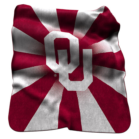 Oklahoma Sooners NCAA Raschel Throw