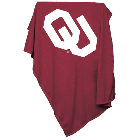 Oklahoma Sooners NCAA Sweatshirt Blanket Throw