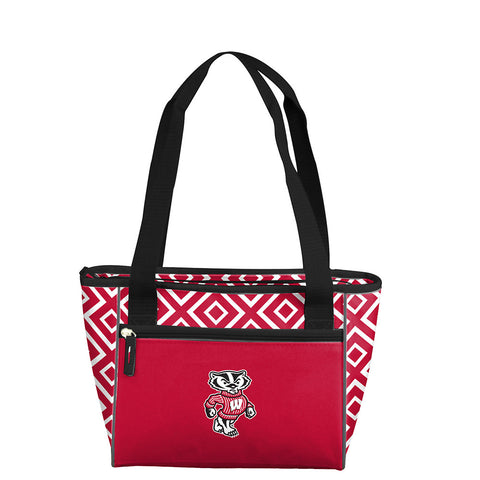 Wisconsin Badgers NCAA 16 Can Cooler Tote