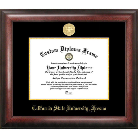 California State University, Fresno Gold Embossed Diploma Frame