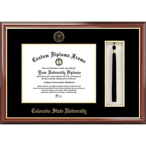 Colorado State University Tassel Box and Diploma Frame