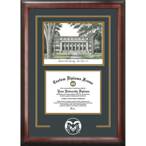 Colorado State University Spirit Graduate Frame with Campus Image