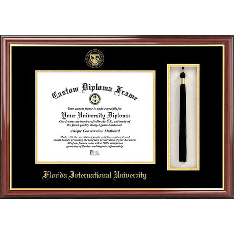 Florida International University Tassel Box and Diploma Frame
