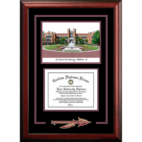Florida State University Spirit Graduate Frame with Campus Image