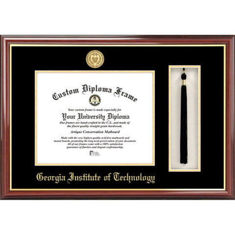 Georgia Institute of Technology Tassel Box and Diploma Frame