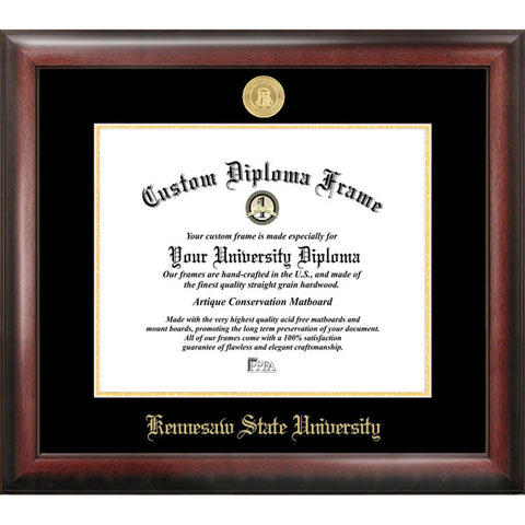 Kennesaw State University Gold Embossed Diploma Frame