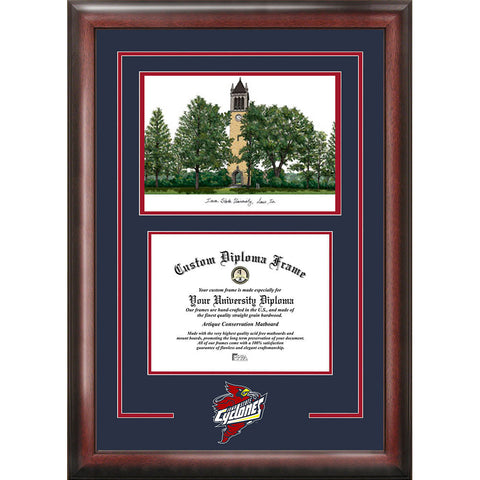 Iowa State University Spirit Graduate Frame with Campus Image