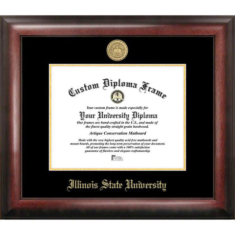 Illinois State University Gold Embossed Diploma Frame