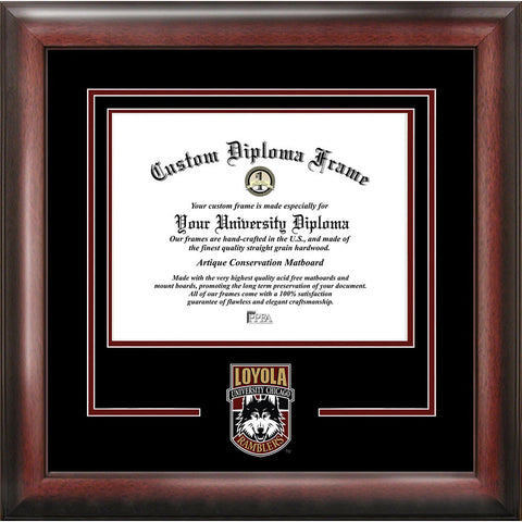Loyola University Chicago Spirit Diploma Frame
