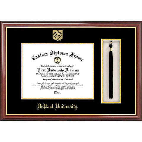 DePaul University Tassel Box and Diploma Frame