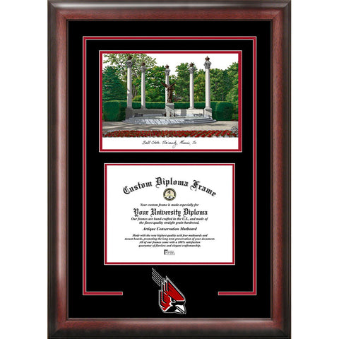 Ball State University Spirit Graduate Frame with Campus Image
