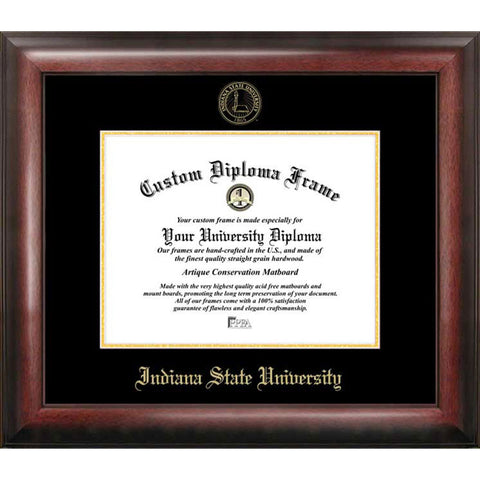 Indiana State University Gold Embossed Diploma Frame