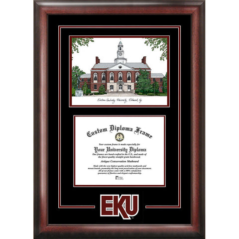 Eastern Kentucky University Spirit Graduate Frame with Campus Image