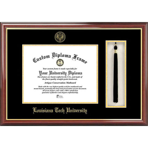 Louisiana Tech University Tassel Box and Diploma Frame