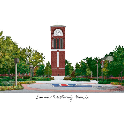 Louisiana Tech University Lithograph Print