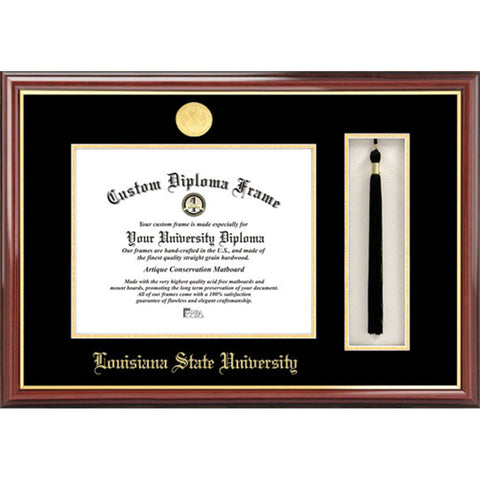 Louisiana State University Tassel Box and Diploma Frame