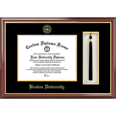 Boston University Tassel Box and Diploma Frame