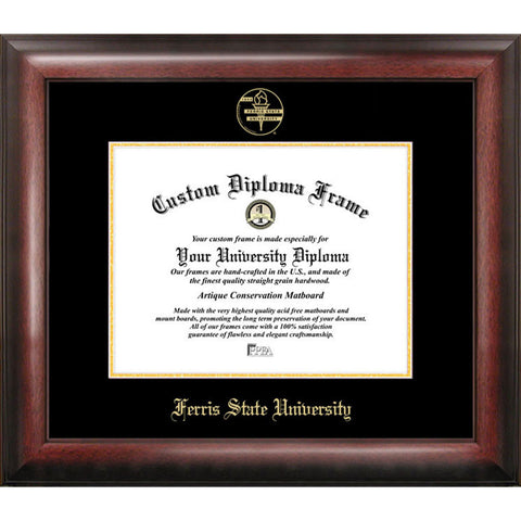Ferris State University Gold Embossed Diploma Frame