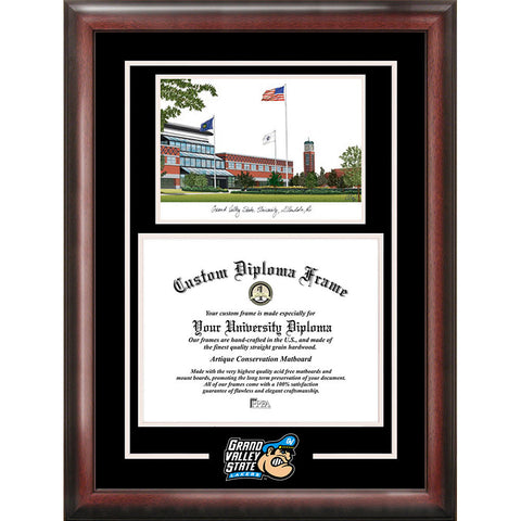 Grand Valley State University Spirit Graduate Frame with Campus Image