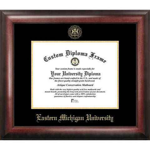Eastern Michigan University Gold Embossed Diploma Frame