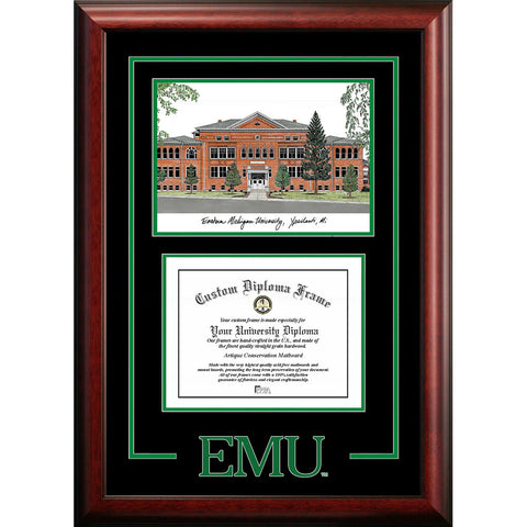 Eastern Michigan University Spirit Graduate Frame with Campus Image