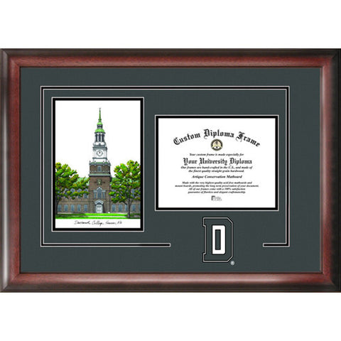 Dartmouth College Gold Embossed Diploma Frame with Limited Edition Lithograph