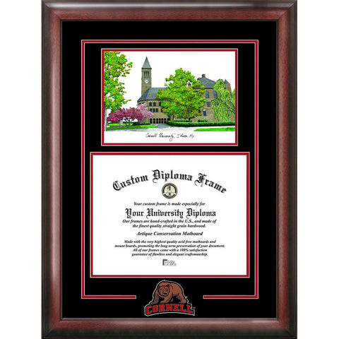 Cornell University Spirit Graduate Frame with Campus Image