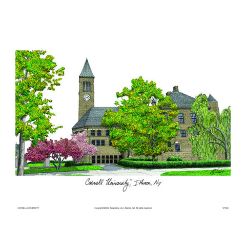 Cornell University Campus Images Lithograph Print
