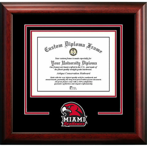 Miami University Ohio Spirit Diploma Frame