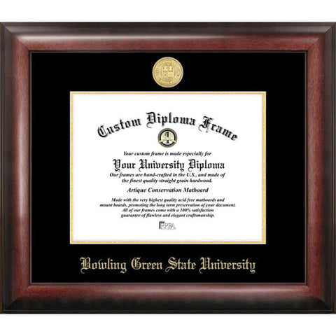 Bowling Green State Gold Embossed Diploma Frame