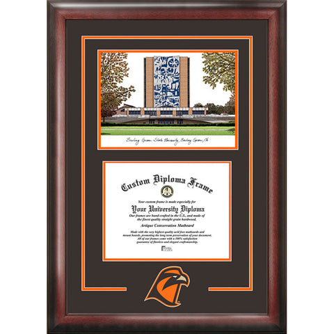 Bowling Green State Spirit Graduate Frame with Campus Image