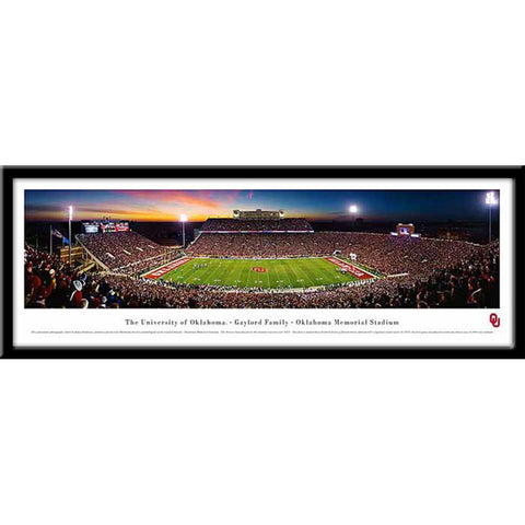 Oklahoma Sooners Memorial Framed Panoramic Stadium Print