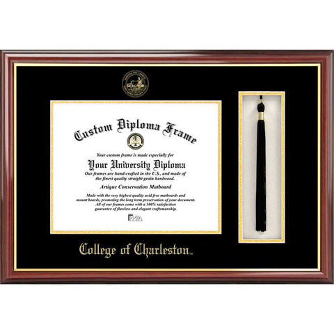 College of Charleston Tassel Box and Diploma Frame