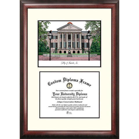 College of Charleston Scholar Diploma Frame