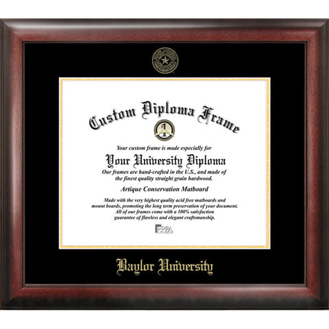 Baylor University Gold Embossed Diploma Frame