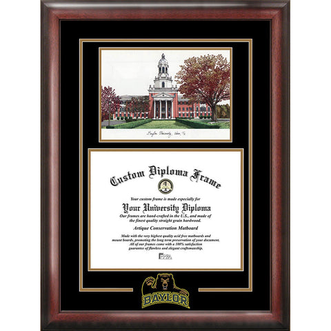 Baylor University Spirit Graduate Frame with Campus Image