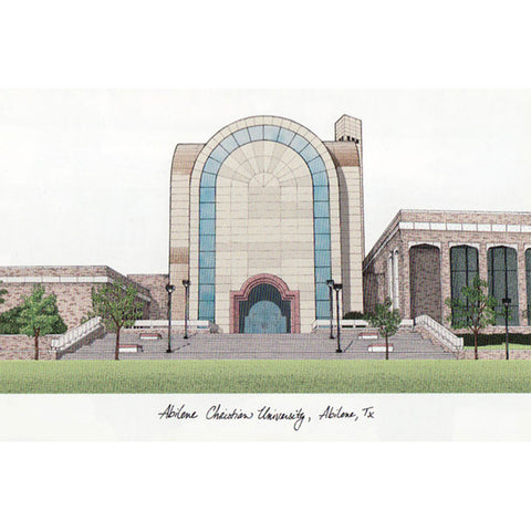 Abilene Christian University Campus Images Lithograph Print