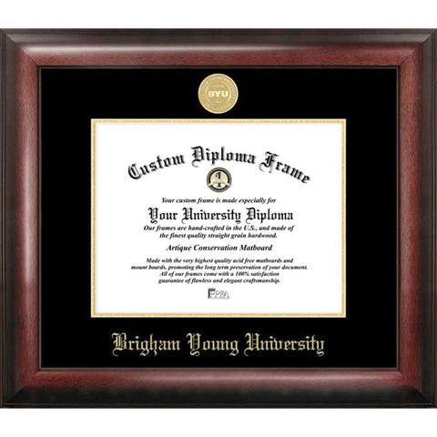 Brigham Young University Gold Embossed Diploma Frame