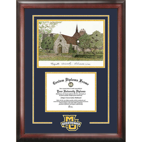 Marquette University Spirit Graduate Frame with Campus Image