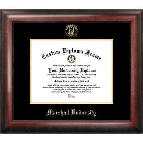 Marshall University Gold Embossed Diploma Frame
