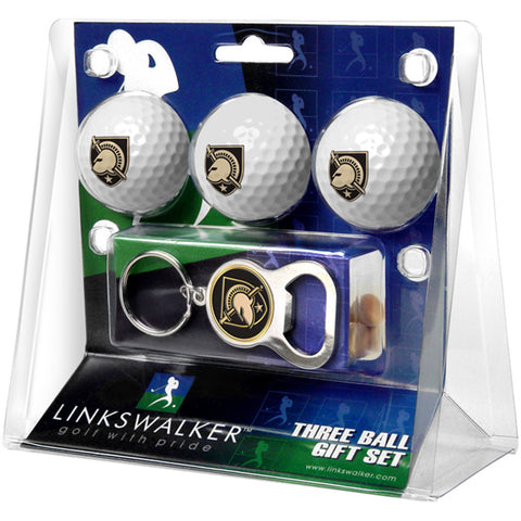Army Black Knights NCAA 3 Ball Gift Pack with Key Chain Bottle Opener
